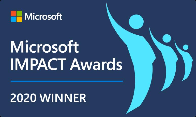 Microsoft Impact Award Winner 2020